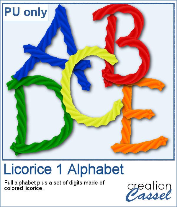 Licorice alphabet
