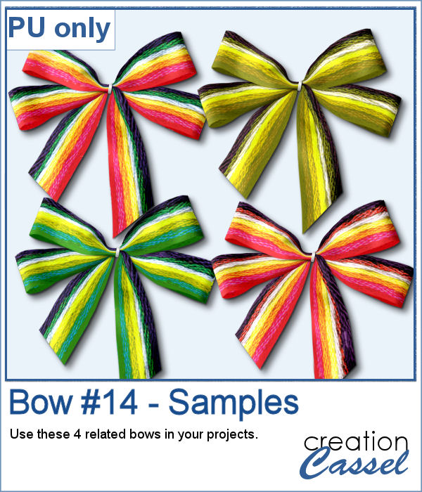 Ribbon bows in png format