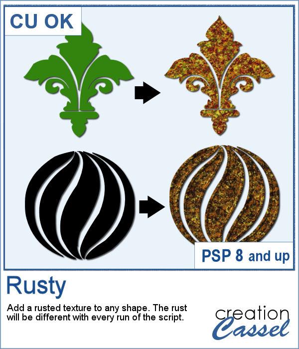 Rusty texture script for PaintShop Pro