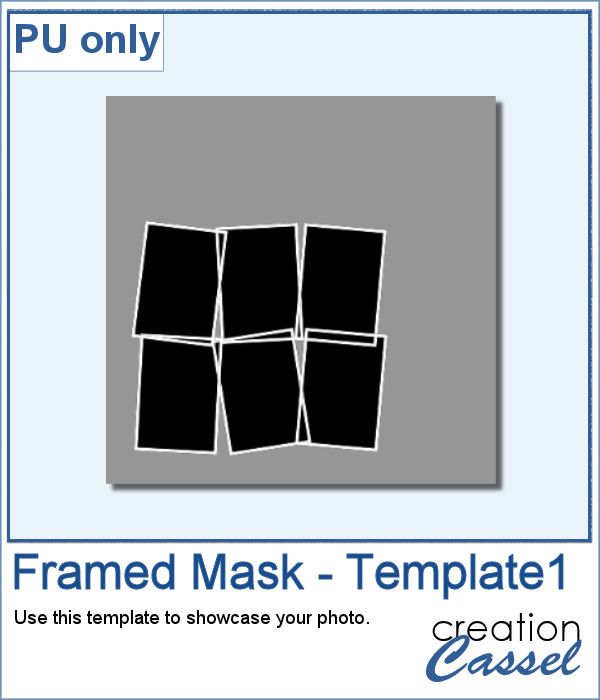 Layered template in .pspimage format