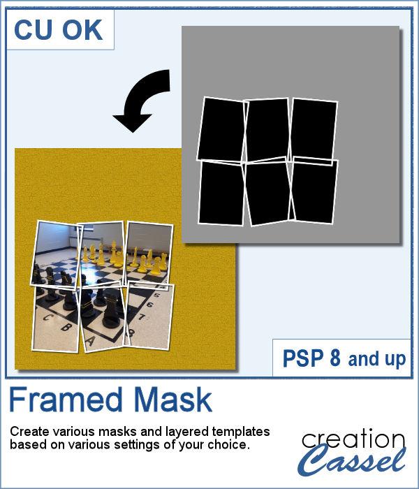 PaintShop Pro script to create layered framed mask