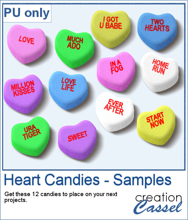 Heart Shaped Candies in png format