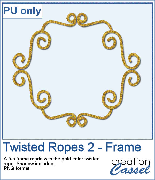 Twisted Rope Frame in PNG format