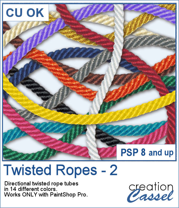 Twisted Ropes tubes for PaintShop Pro