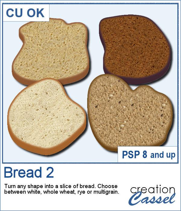 Bread slices script for PaintShop Pro
