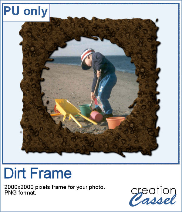 Dirty Texture frame in PNG format