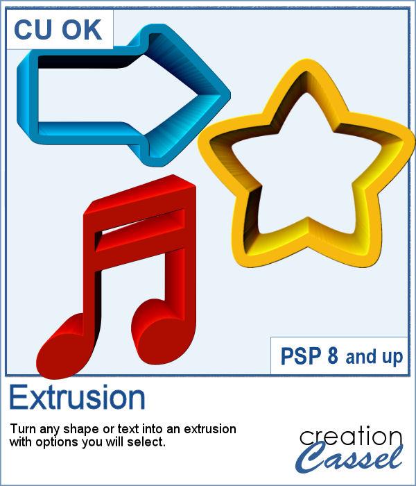 Extrusion script for PaintShop Pro