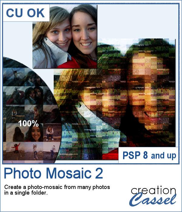 Photo-mosaic script for PaintShop Pro