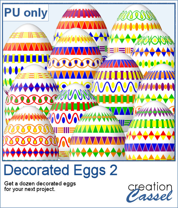 Decorated Easter Eggs in PNG format