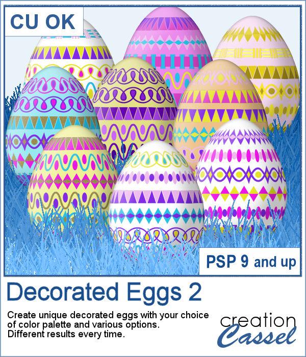 Decorated eggs script for PaintShop Pro