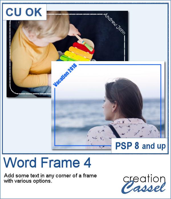 Word frame script for PaintShop Pro
