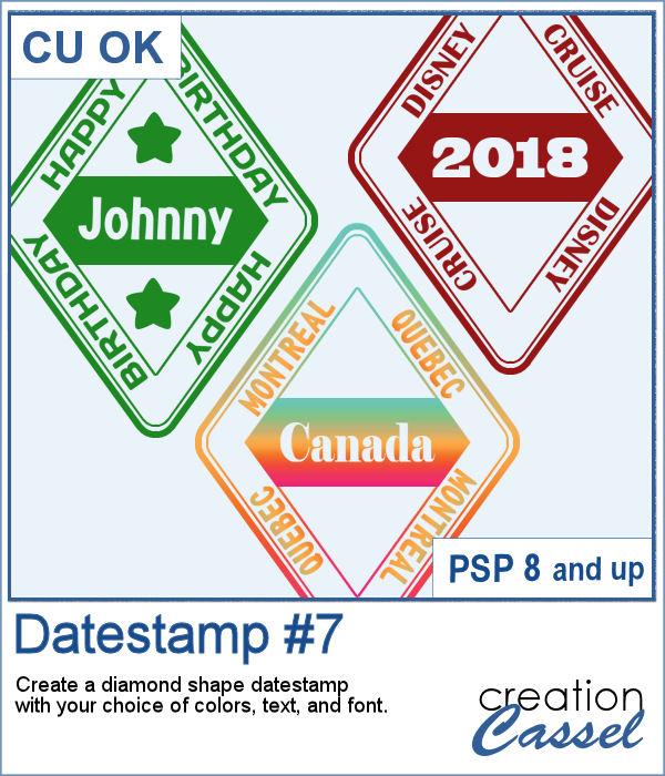 Datestamp script for PaintShop Pro