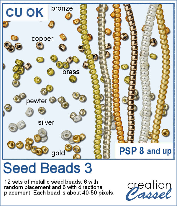 Seed Beads picture tubes for PaintShop Pro