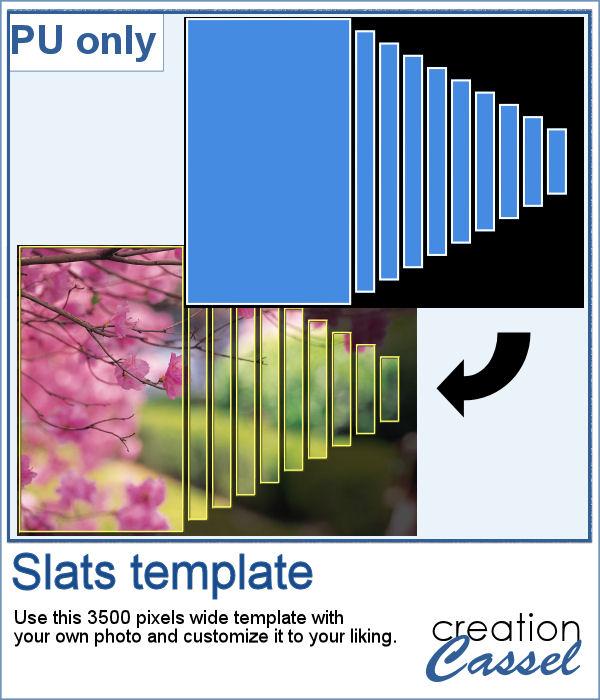Slat template for PaintShop Pro