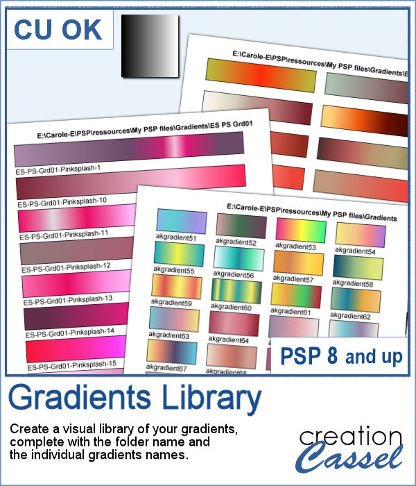 Gradients Library script for PaintShop Pro