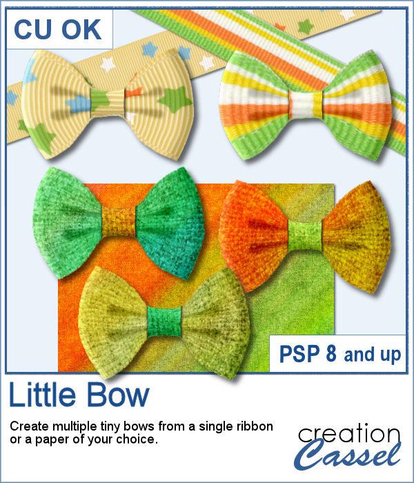 Little bows script for PaintShop Pro