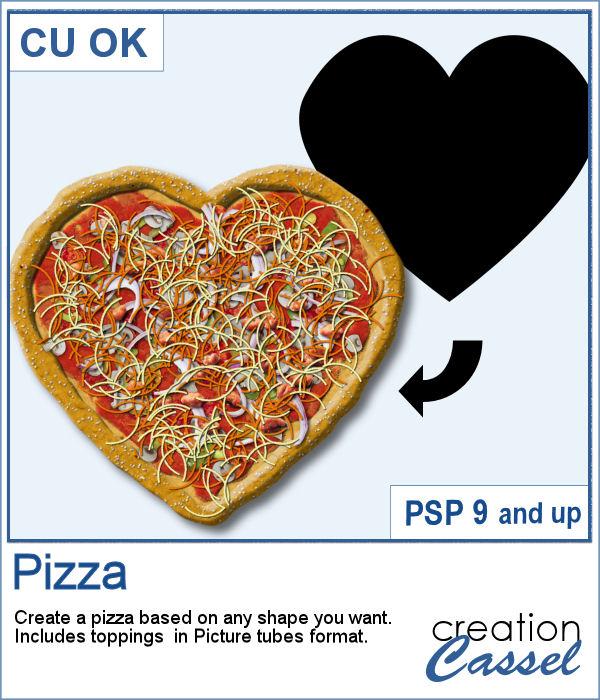PaintShop Pro script to create pizza