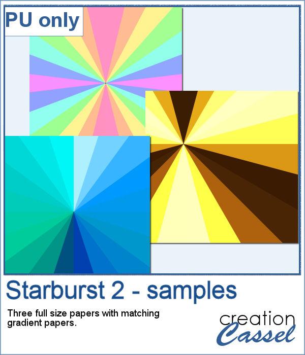 Starburst pattern papers