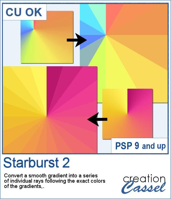 Starburst pattern maker script for PaintShop Pro