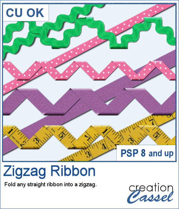 zigzag folded ribbon script for PaintShop Pro