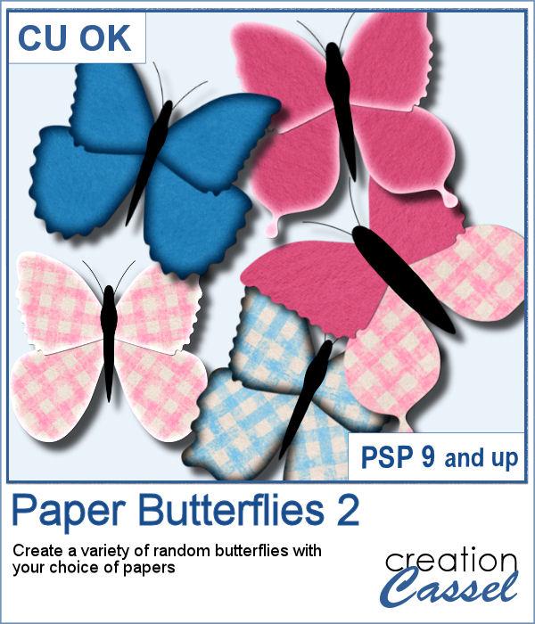Paper Butterflies script for PaintShop Pro