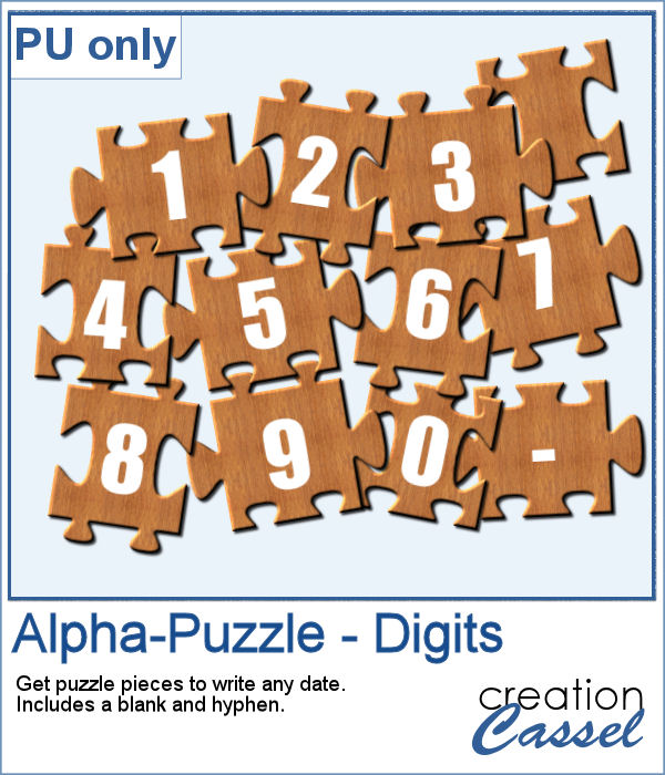Alpha puzzle pieces in png