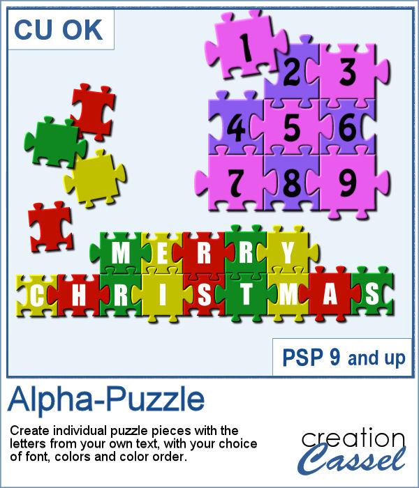 Alpha-puzzle script for PaintShop Pro