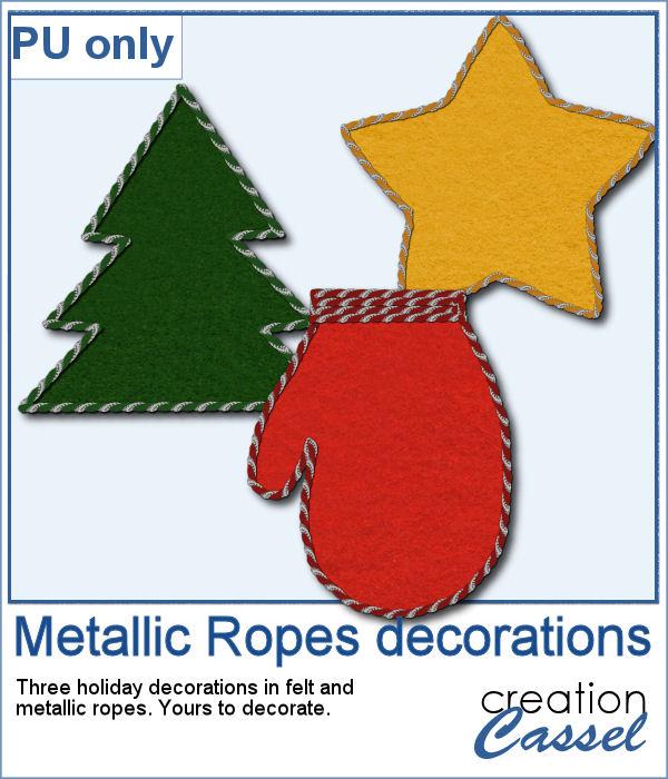 Holiday decorative elements