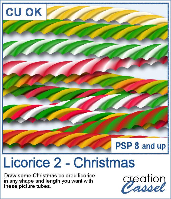 Licorice picture tubes for PaintShop Pro