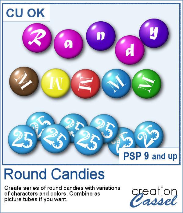 Round candies script for PaintShop Pro
