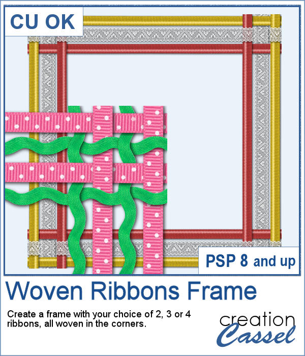 Woven Ribbons Frame script for PaintShop Pro
