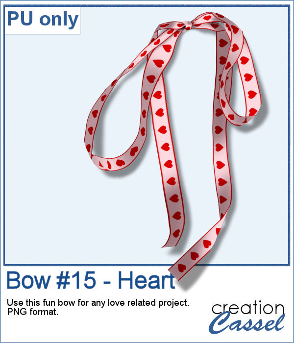 Droopy bow in png format