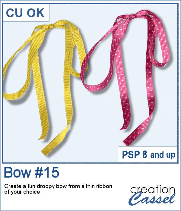 Bow 15 script for PaintShop Pro
