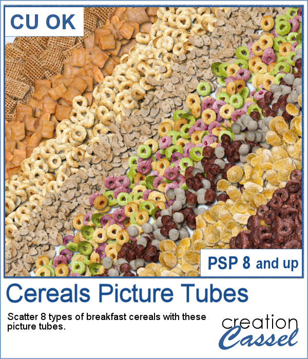 Cereals Picture Tubes for PaintShop Pro