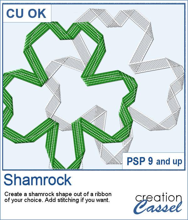 Shamrock shape script for PaintShop Pro
