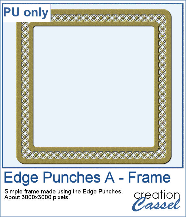 Punched frame in PNG format