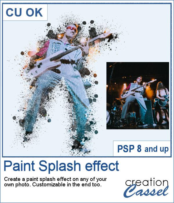 Paint Splash script for PaintShop Pro