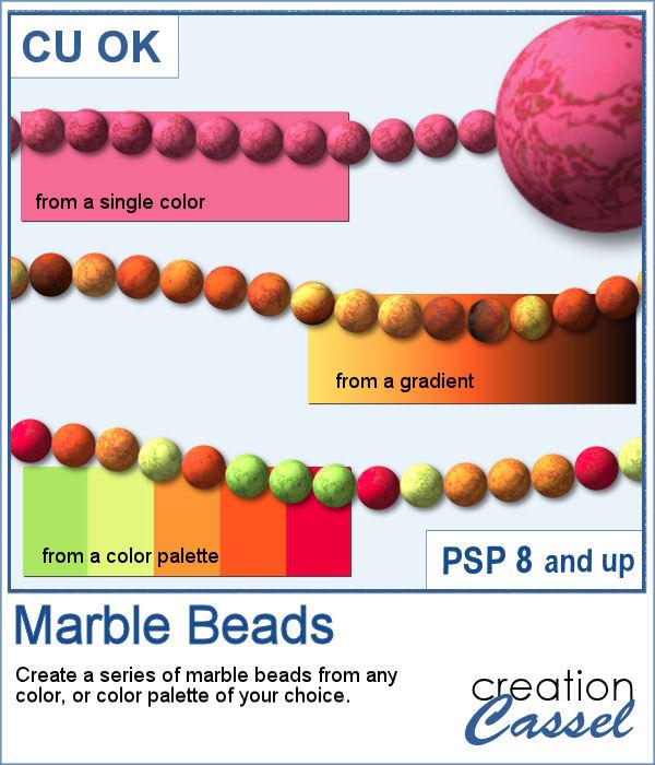 PaintShop Pro script to create marble beads