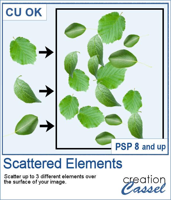 Scatter elements with a script for PaintShop Pro