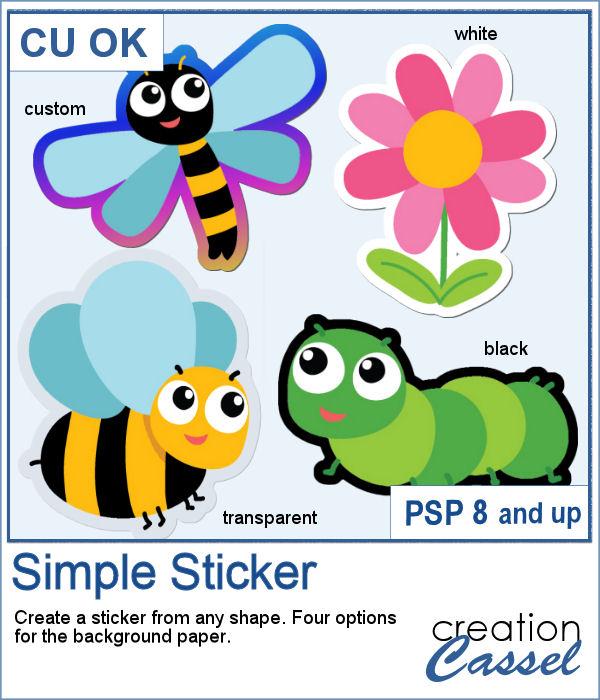 Simple Sticker script for PaintShop Pro