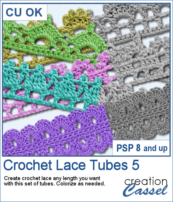 Crochet Lace Picture tubes for PaintShop Pro