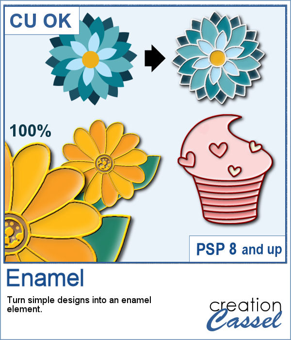 Enamel effect for PaintShop Pro