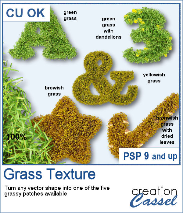 Grass Texture script for PaintShop Pro