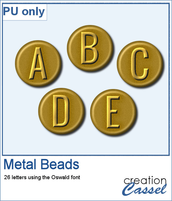 Metal beads in png format