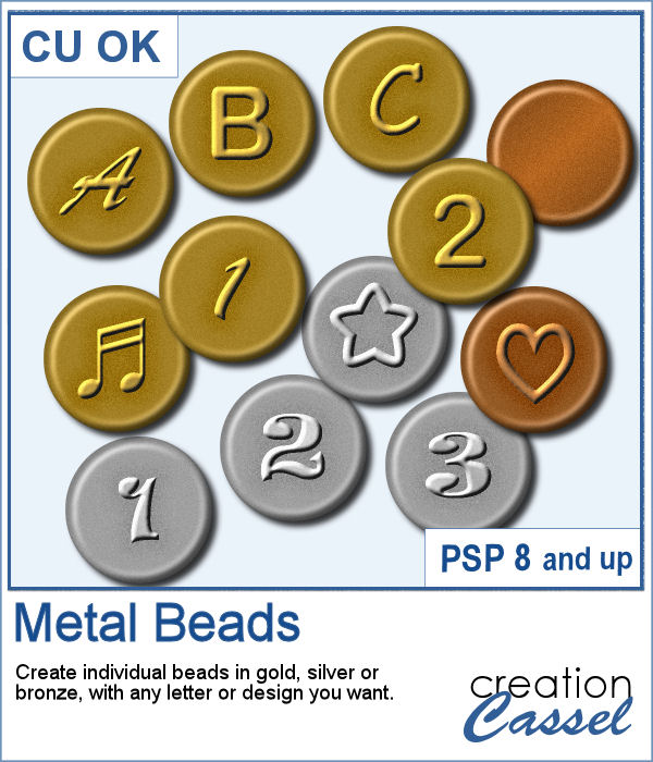 Meteal Beads script for PaintShop Pro