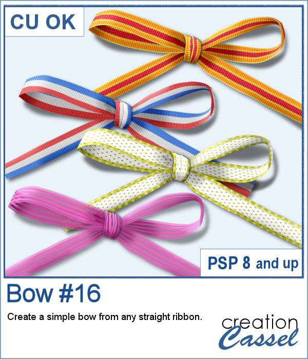 Bow script for PaintShop Pro