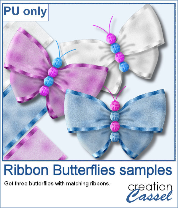 Ribbon Butterflies in PNG format