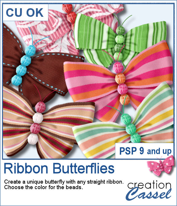 Ribbon Butterflies script for PaintShop Pro