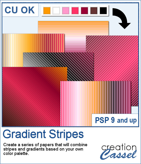 Gradient Stripes script for PaintShop Pro