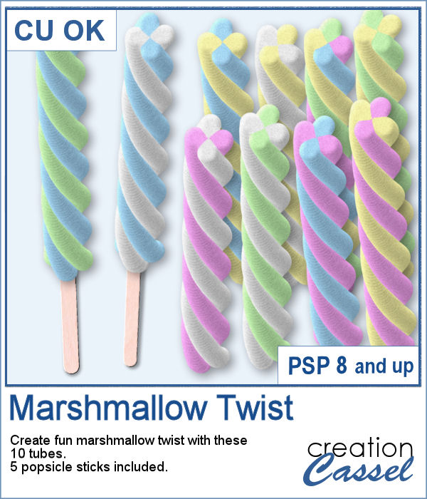 Marshmallow Twist picture tubes for PaintShop Pro